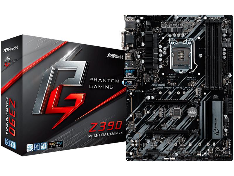Материнская плата ASRock Z390 Phantom Gaming 4