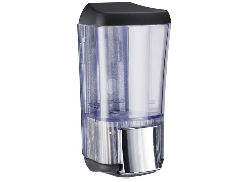 Дозатор Nofer Black Series 170ml для жидкого мыла Transparent 03010