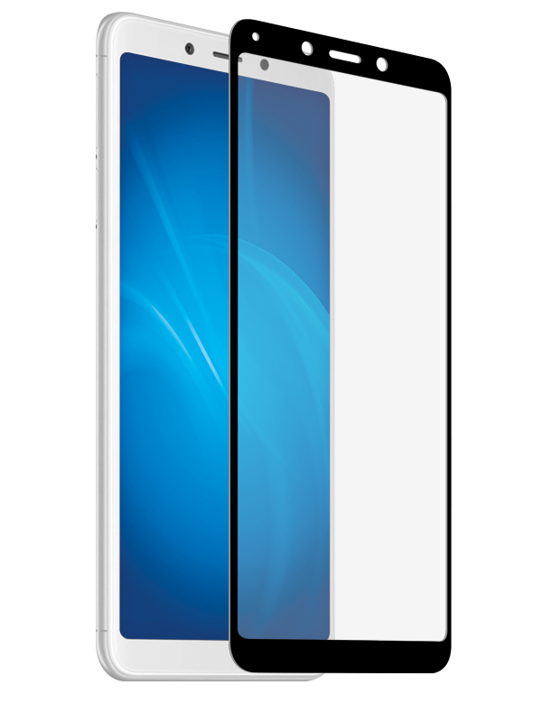 Защитное стекло Krutoff для Xiaomi Redmi 6 Full Screen Black 02658