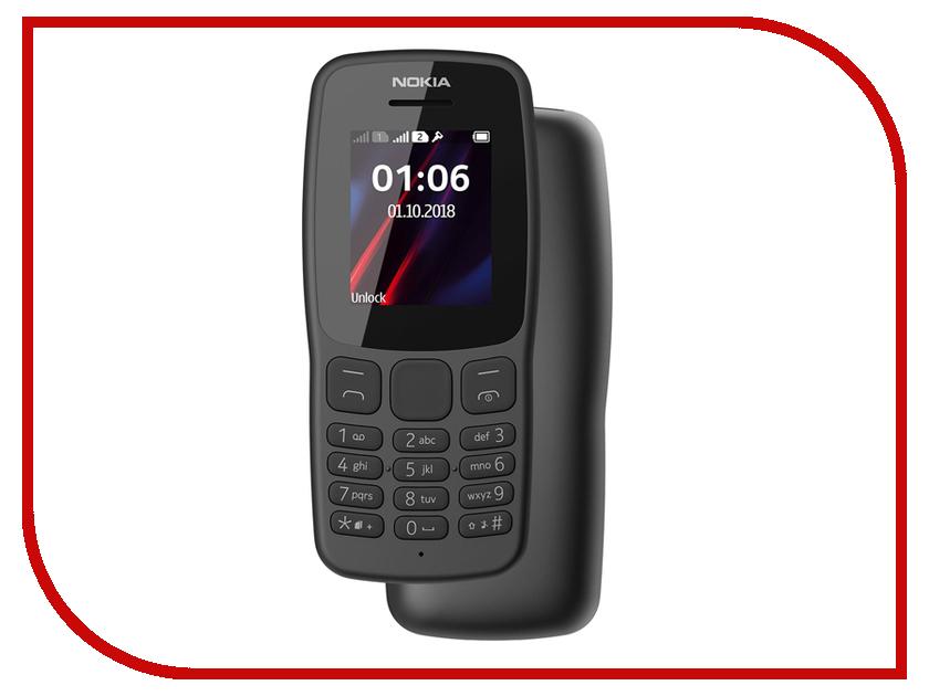 Сотовый телефон Nokia 106 Dual Sim (2018) Grey сотовый телефон nokia 6 dual sim copper