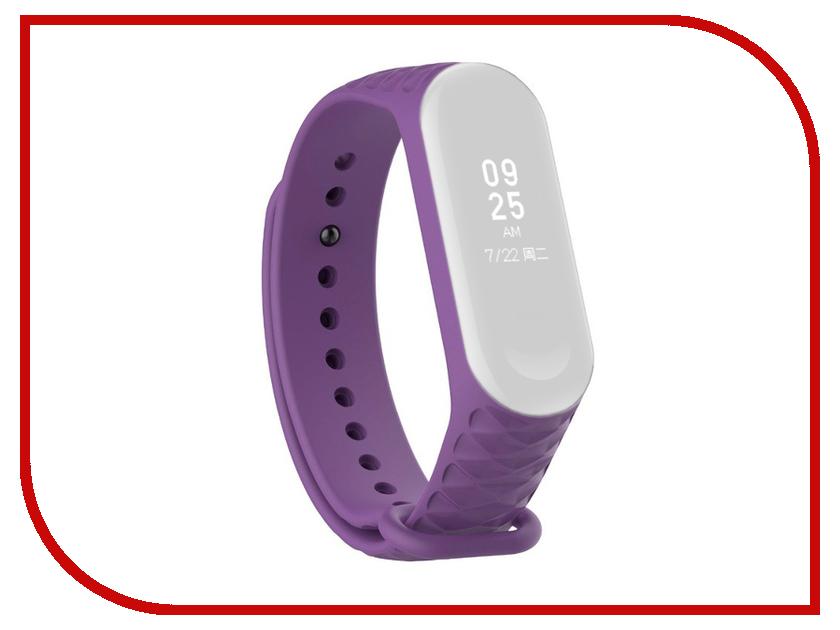Aксессуар Ремешок Activ for Xiaomi Mi Band 3 Silicone Рельеф Purple 90381