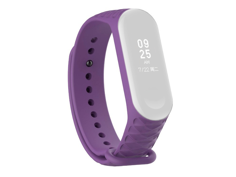 Aксессуар Ремешок Activ for Xiaomi Mi Band 4 / 3 Silicone Рельеф Purple 90381