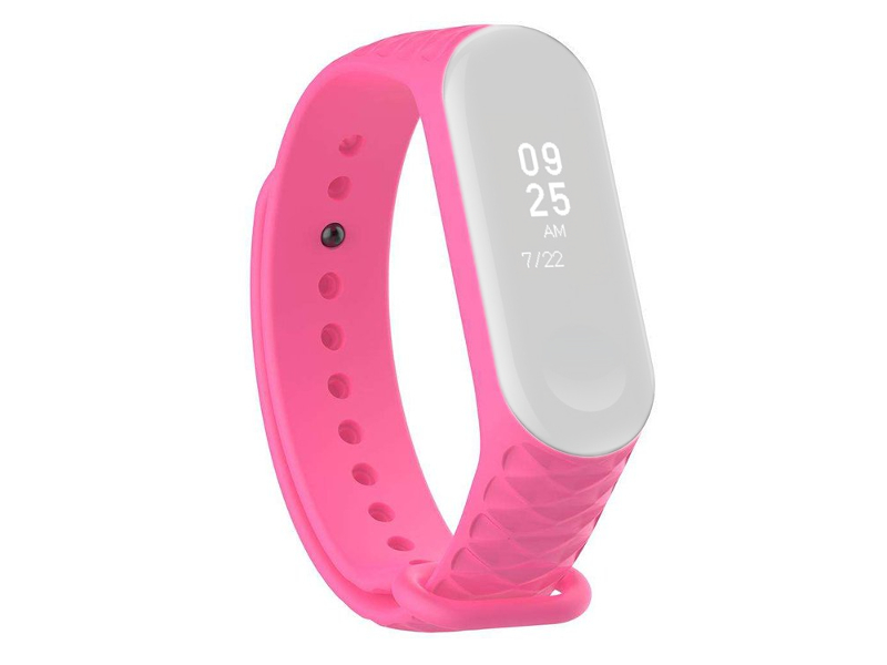 Aксессуар Ремешок Activ for Xiaomi Mi Band 4 / Mi Band 3 Silicone Рельеф Pink 90380