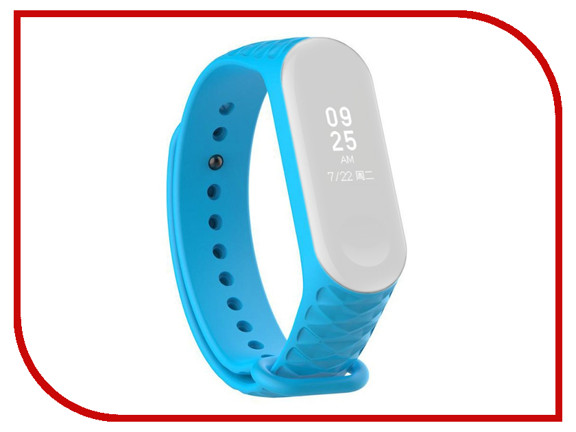 Aксессуар Ремешок Activ for Xiaomi Mi Band 3 Silicone Рельеф Light Blue 90378 for renault twingo 1993 2014 car interior ambient light panel illumination for car inside cool strip light optic fiber band