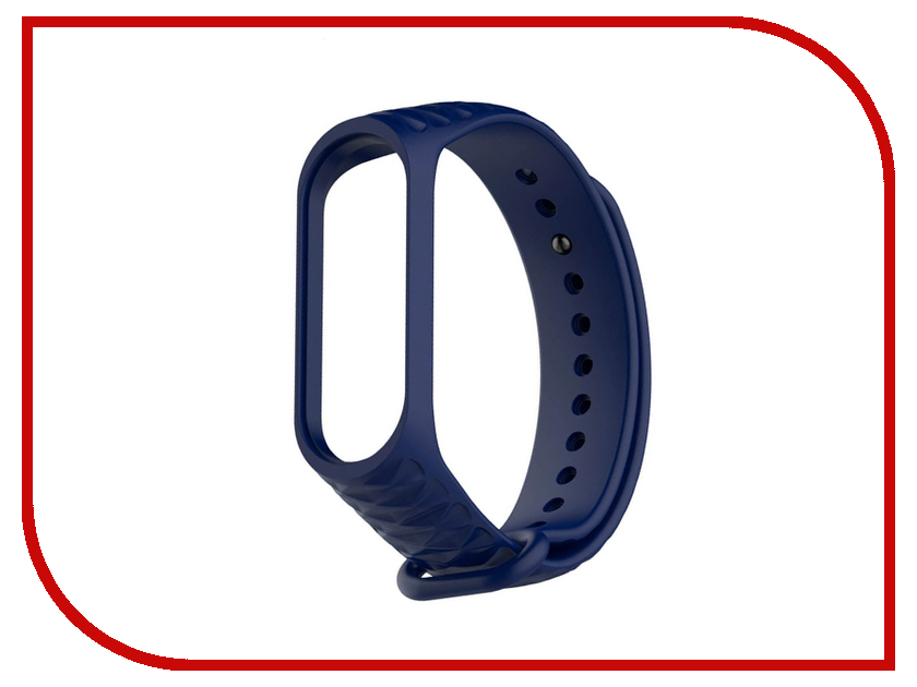 Aксессуар Ремешок Activ for Xiaomi Mi Band 3 Silicone Рельеф Blue 90375 aксессуар ремешок activ for xiaomi mi band silicone blue 83776