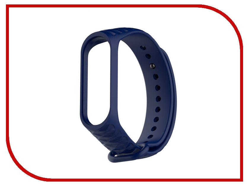 Aксессуар Ремешок Activ for Xiaomi Mi Band 3 Silicone Рельеф Blue 90375 silicone non slip mat pad for cellphone blue