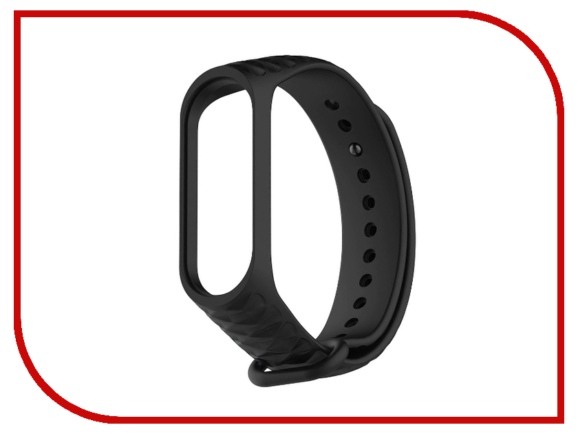 Aксессуар Ремешок Activ for Xiaomi Mi Band 3 Silicone Рельеф Black 90374 silicone rubber watch band 22mm 24mm for orient stainless steel clasp strap wrist loop belt bracelet black spring bar tool
