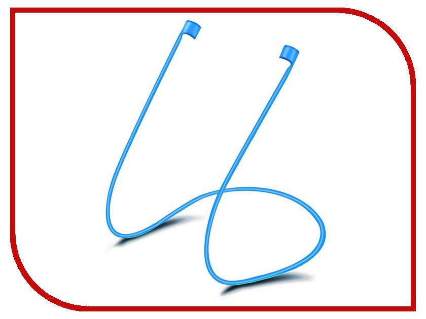 Аксессуар Шнурок силиконовый Activ для Apple AirPods Blue 88007 аксессуар