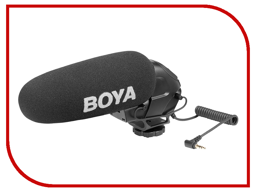 Микрофон Boya BY-BM3030 boya by wm4 wireless lavalier microphone system smartphone lapel mic for iphone 8 7 android canon nikon tablet pc audio recorder