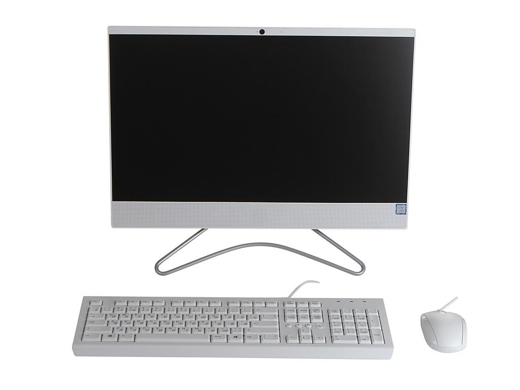 Моноблок HP 22-c0021ur 4GZ48EA Snow White (Intel Core i3-8130U 2.2 GHz/4096Mb/1000Gb/No ODD/nVidia GeForce MX110 2048Mb/Wi-Fi/21.5/1920x1080/Windows 10 64-bit)