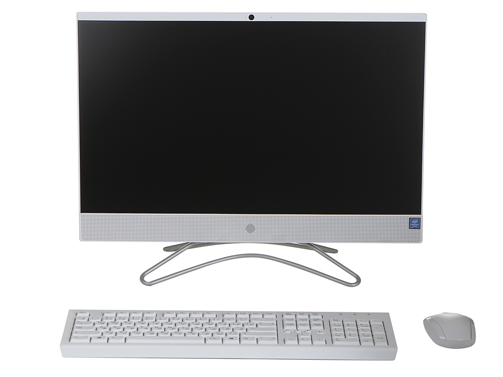 Моноблок HP 24-f0017ur 4GV70EA Snow White (Intel Pentium J5005 1.5 GHz/4096Mb/500Gb/No ODD/nVidia GeForce MX110 2048Mb/Wi-Fi/23.8/1920x1080/Windows 10 64-bit) ого pc home3d intel pentium g4400 3 30ghz 4gb 500gb 2048mb nvidia gt 710 usb 3 0 450w windows 10