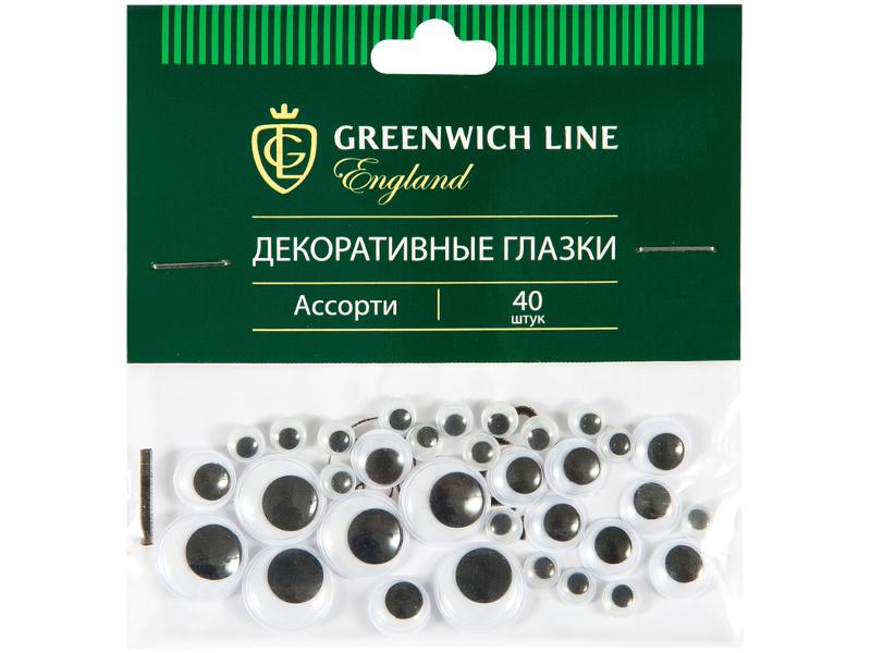 Набор Greenwich Line Материал декоративный Глазки ассорти 40шт WE_20429