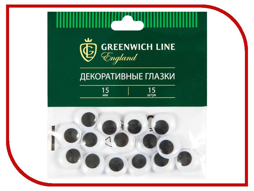 Набор Greenwich Line Материал декоративный Глазки 15mm 15шт WE_20427 greenwich line набор для рисования скетча greenwich line прованс