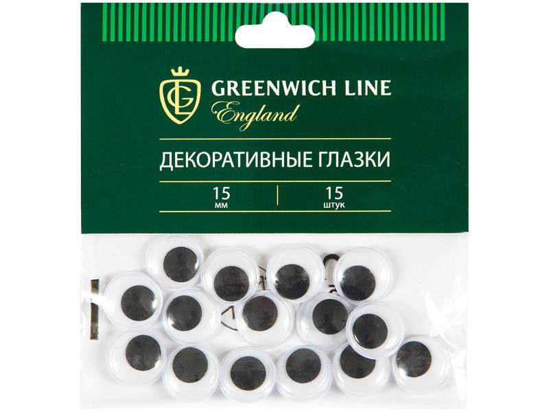 Набор Greenwich Line Материал декоративный Глазки 15mm 15шт WE_20427