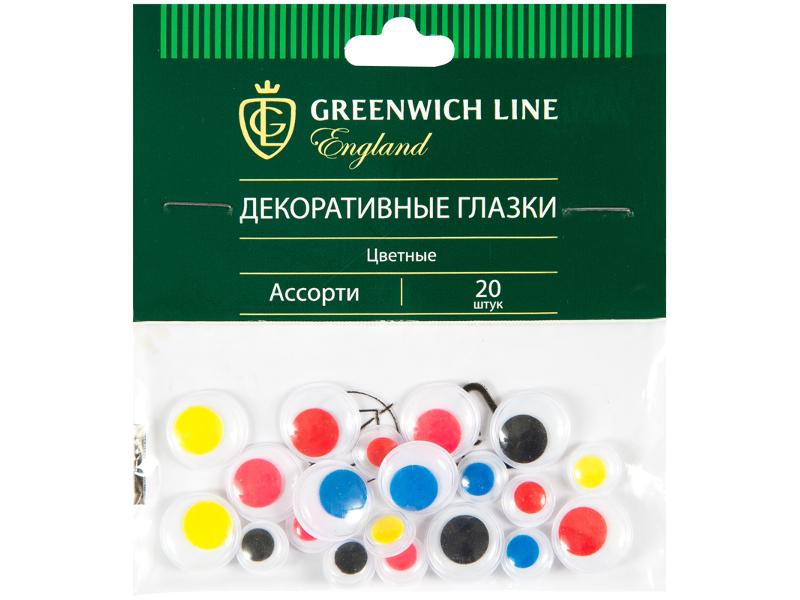Набор Greenwich Line Материал декоративный Глазки цветные 20шт WE_20423