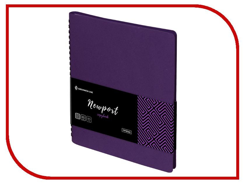 Тетрадь Greenwich Line Newport A5 80 листов Violet N5c80w-18645 cellular line shadowiph647v violet