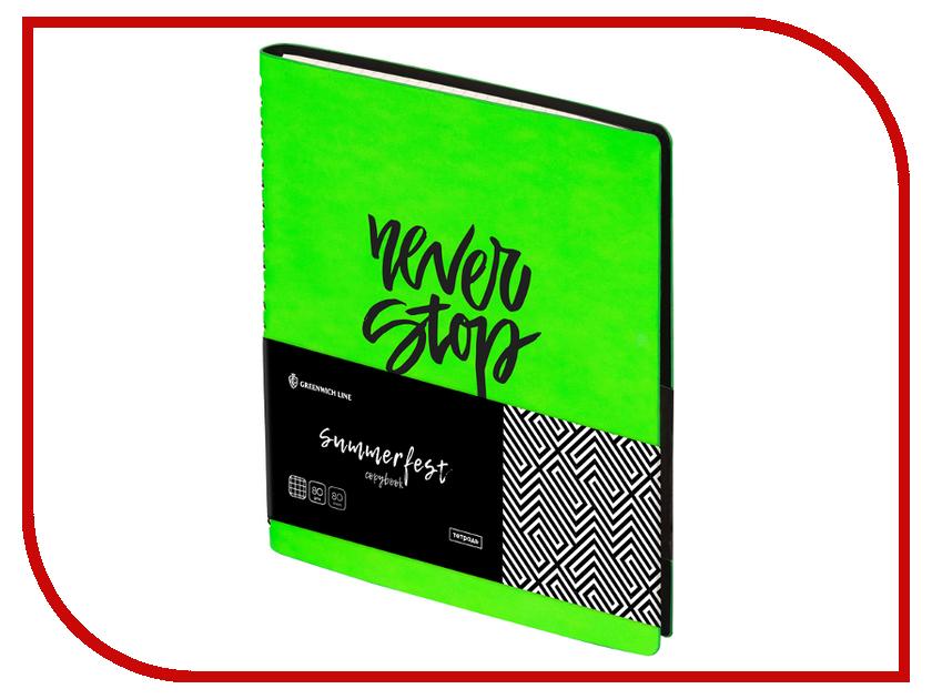 Тетрадь Greenwich Line Summerfest A5 80 листов Neon Lime N5c80w-18631 greenwich line тетрадь passion to travel 48 листов в линейку