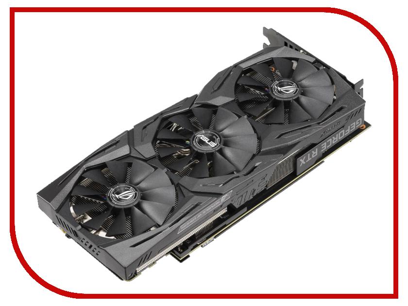 Видеокарта ASUS GeForce RTX 2070 1410Mhz PCI-E 3.0 8192Mb 14000Mhz 256 bit USB-C 2xDP 2xHDMI HDCP ROG-STRIX-RTX2070-O8G-GAMING видеокарта asus geforce rtx 2080 1515mhz pci e 3 0 8192mb 14000mhz 256 bit 2xhdmi hdcp strix gaming oc rog strix rtx2080 o8g gaming