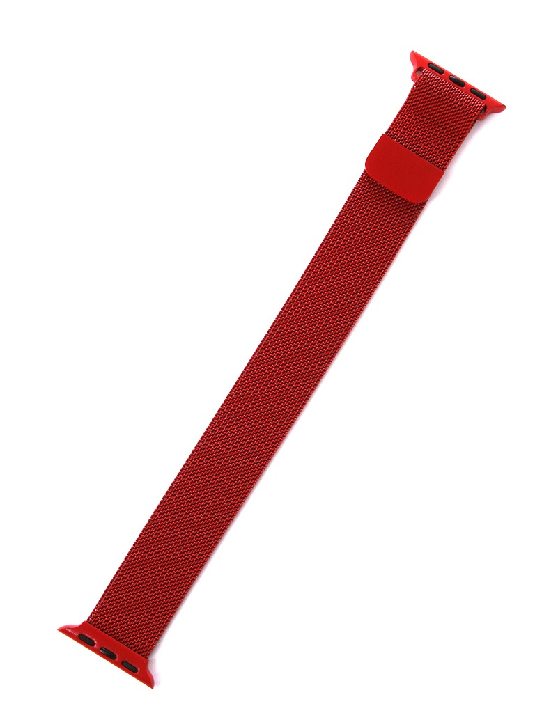 Аксессуар Ремешок Gurdini Milanese Loop для APPLE Watch 38mm/40mm Red 906274 genuine leather loop watchband for apple watch leather loop band with magnetic closure for iwatch milanese loop