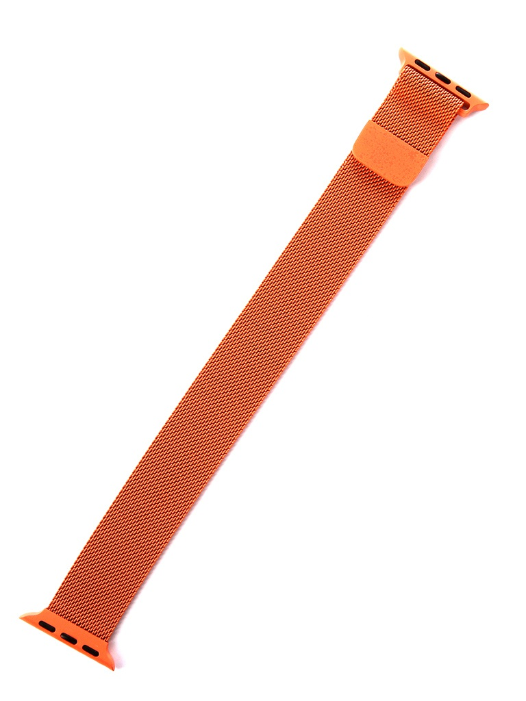 Аксессуар Ремешок Gurdini Milanese Loop для APPLE Watch 38mm/40mm Spicy Orange 907683 genuine leather loop watchband for apple watch leather loop band with magnetic closure for iwatch milanese loop