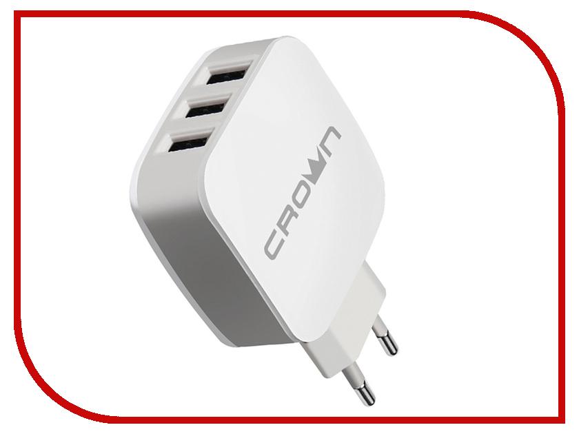 Зарядное устройство Crown CMWC-3053 3xUSB White-Grey