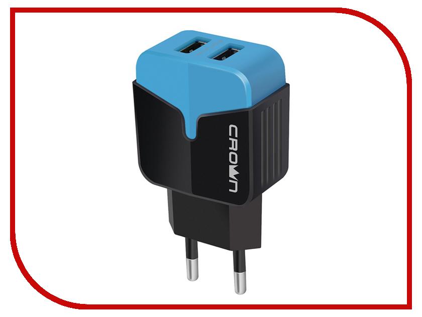 Зарядное устройство Crown CMWC-3042 2xUSB Black-Blue