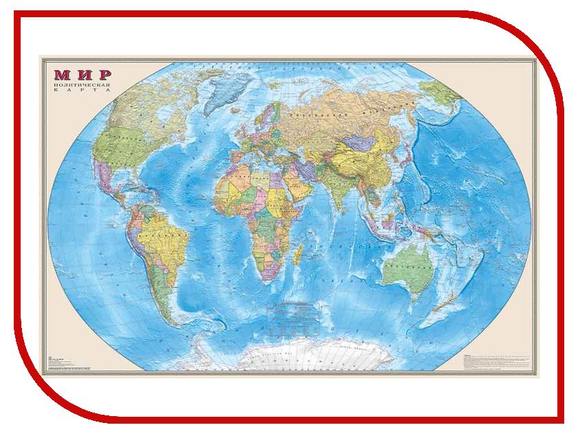 Карта Мир политическая DMB 1220x790mm ОСН1223987