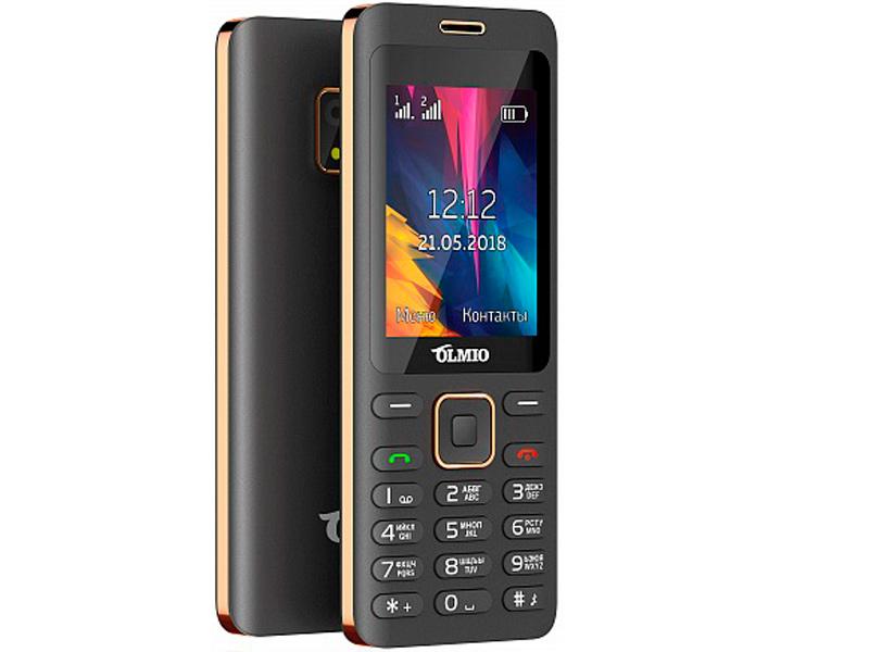 Сотовый телефон Olmio E24 Black-Gold сотовый телефон vertex impress tor black orange