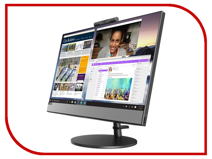 Моноблок Lenovo V530-22ICB Black 10US0003RU (Intel Core i3-8100T 3.1 GHz/4096Mb/500Gb/DVD-RW/Intel HD Graphics/Wi-Fi/Bluetooth/Cam/21.5/1920x1080/Windows 10 Pro 64-bit) моноблок lenovo aio s200z fs black 10ha0010ru intel celeron j3060 1 6 ghz 2048mb 500gb intel hd graphics wi fi bluetooth cam 19 5 1600x900 windows 10 home 64 bit