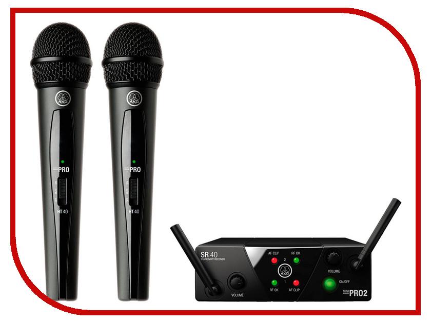 Радиосистема AKG WMS40 Mini 2 Vocal US25B/D akg mk hs studio d