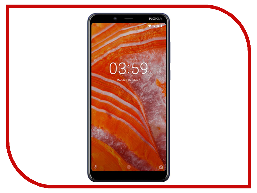 Сотовый телефон Nokia 3.1 Plus 32Gb Blue смартфон nokia 5 1 plus 32gb white