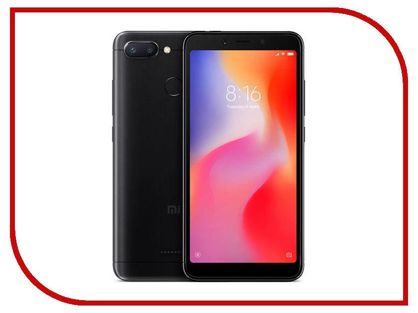 Сотовый телефон Xiaomi Redmi 6 3/64GB Black сотовый телефон xiaomi redmi note 6 pro 4 64gb black