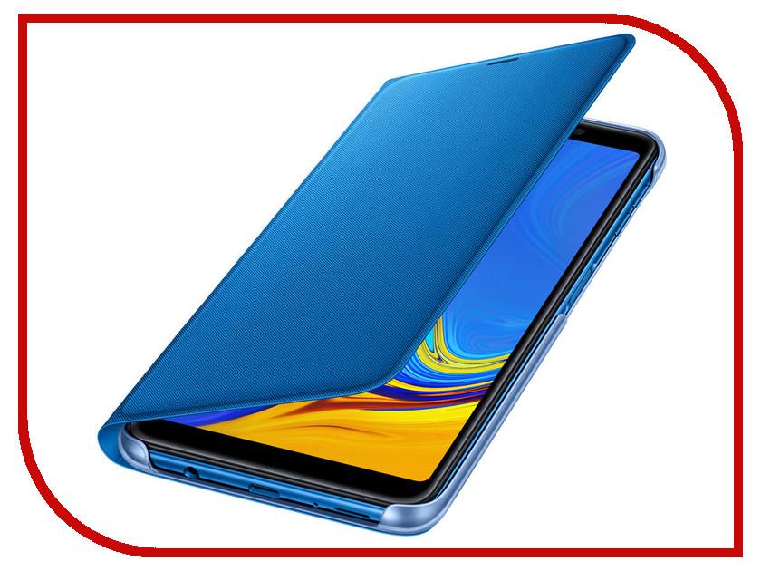 Аксессуар Чехол для Samsung Galaxy A7 2018 A750 Wallet Cover Blue EF-WA750PLEGRU аксессуар чехол samsung j3 2017 j330f zibelino clear view black zcv sam j330 blk