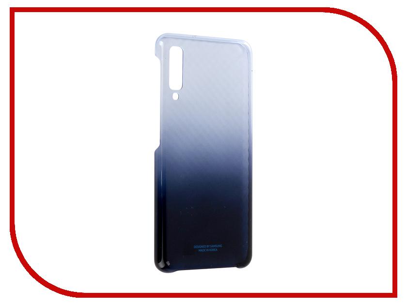 Аксессуар Чехол для Samsung Galaxy A7 2018 A750 Wallet Cover Blue EF-AA750CLEGRU samsung glitter cover ef xn920clegru blue