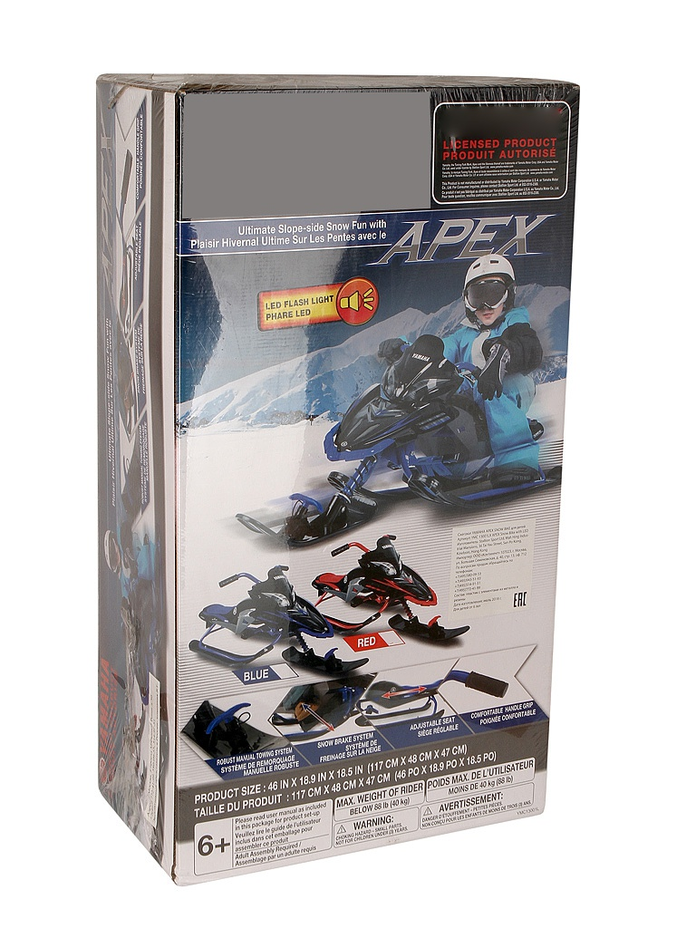 Снегокат Yamaha Apex Snow Bike with LED Red YMC13001LX