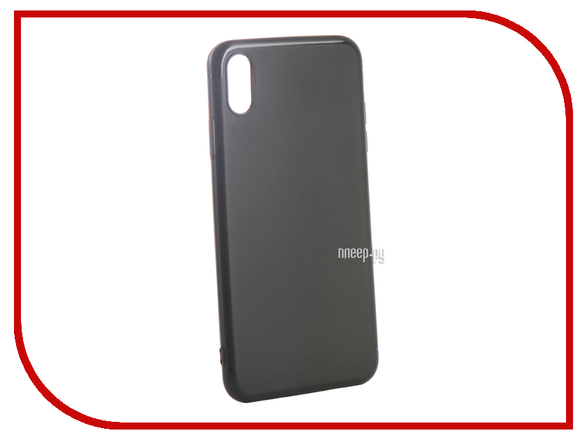 Аксессуар Чехол для APPLE iPhone XS Max Ubik TPU Black 31342