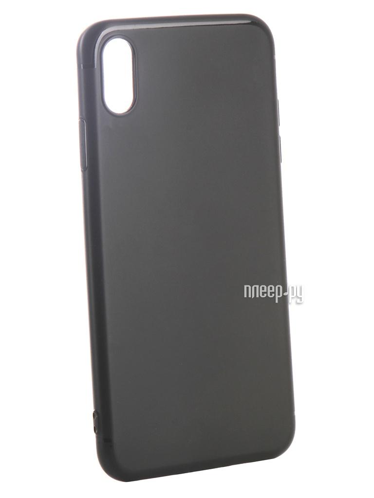 Аксессуар Чехол Ubik для APPLE iPhone XS Max TPU Black 31342 аксессуар чехол ubik для samsung a8 tpu black 31358