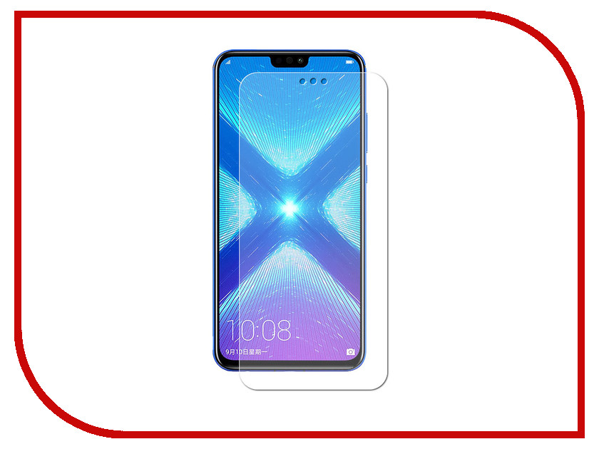 Аксессуар Гибридная защитная пленка для Huawei Honor 8X / 8X Premium Red Line УТ000016904 аксессуар гибридная защитная пленка для lg q6 m700an 5 5 red line ут000015493