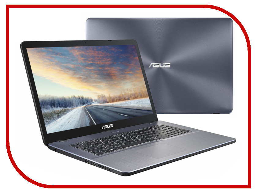 Ноутбук ASUS A705UB-GC119 90NB0IG2-M01450 Grey (Intel Core i5-8250U 1.6 GHz/4096Mb/500Gb/DVD-RW/nVidia GeForce MX110 2048Mb/Wi-Fi/Bluetooth/Cam/17.3/1920x1080/Endless) моноблок lenovo ideacentre aio 520 24iku ms silver f0d2003urk intel core i5 7200u 2 5 ghz 8192mb 1000gb dvd rw intel hd graphics wi fi bluetooth cam 23 8 1920x1080 dos