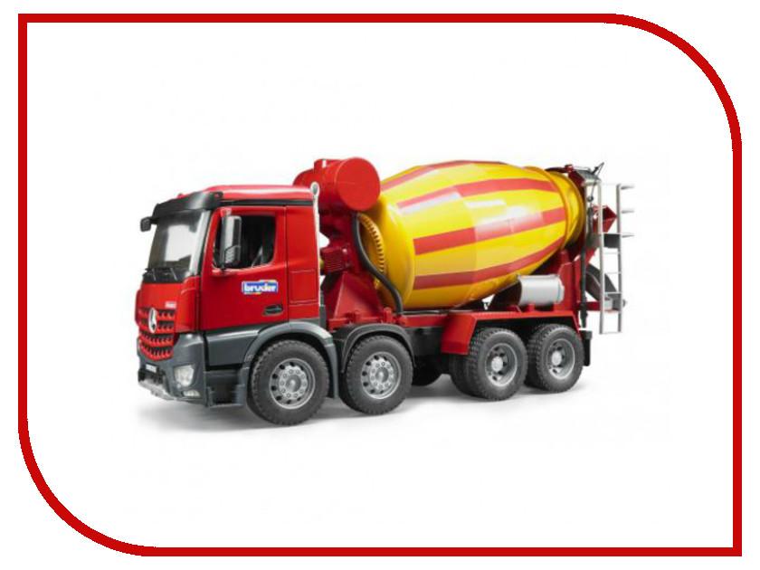Игрушка Bruder Бетономешалка Mercedes-Benz Yellow-Red 03-654