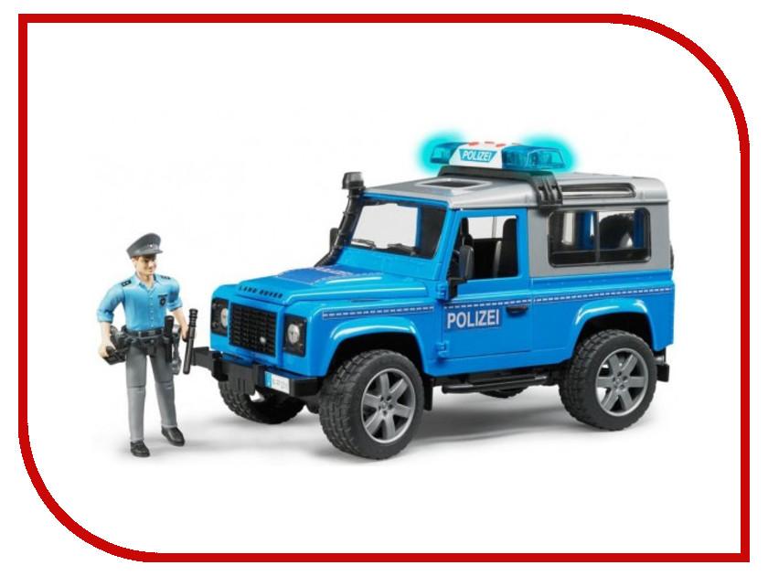 Игрушка Bruder Внедорожник Land Rover Defender Station Wagon Полицейская с фигуркой 02-597 все цены