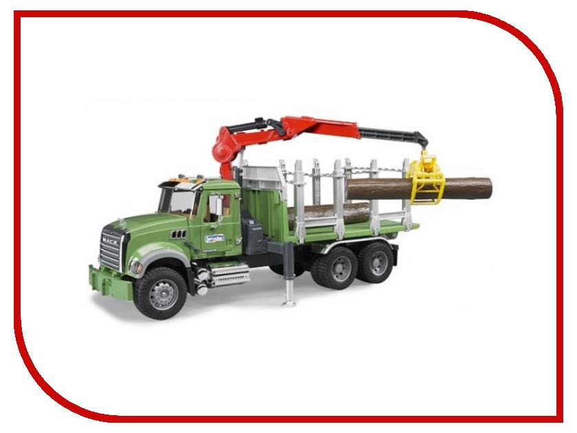 Игрушка Bruder Лесовоз Mack с портативным краном и брёвнами 02-824 bruder мусоровоз mack 02 812