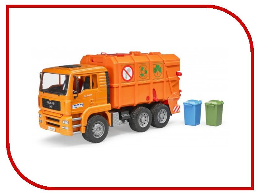 Игрушка Bruder Мусоровоз Man TGA Orange 02-760 bruder мусоровоз mack 02 812