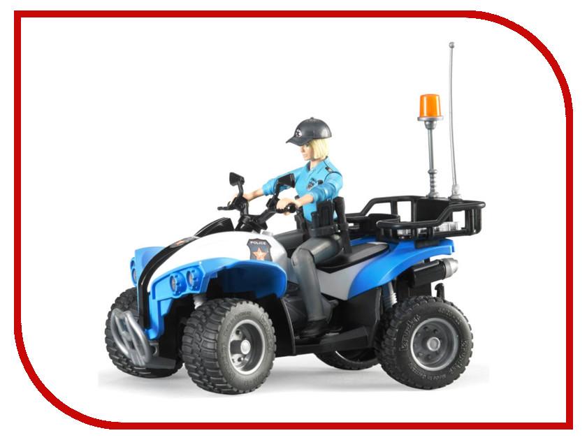 Игрушка Bruder Полицейский квадроцикл с фигуркой 63-010 набор светящихся наклеек aaa 010 бабочки 11 01488 aaa 010