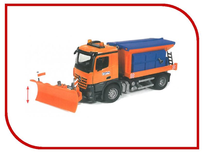Игрушка Bruder Снегоуборочная машина MB Arocs 03-685 шины для системы сдвоенных колес bruder 03 30