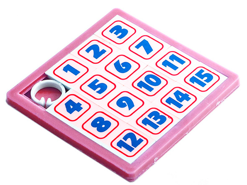 Головоломка Эврика Пятнашки Pink 94776