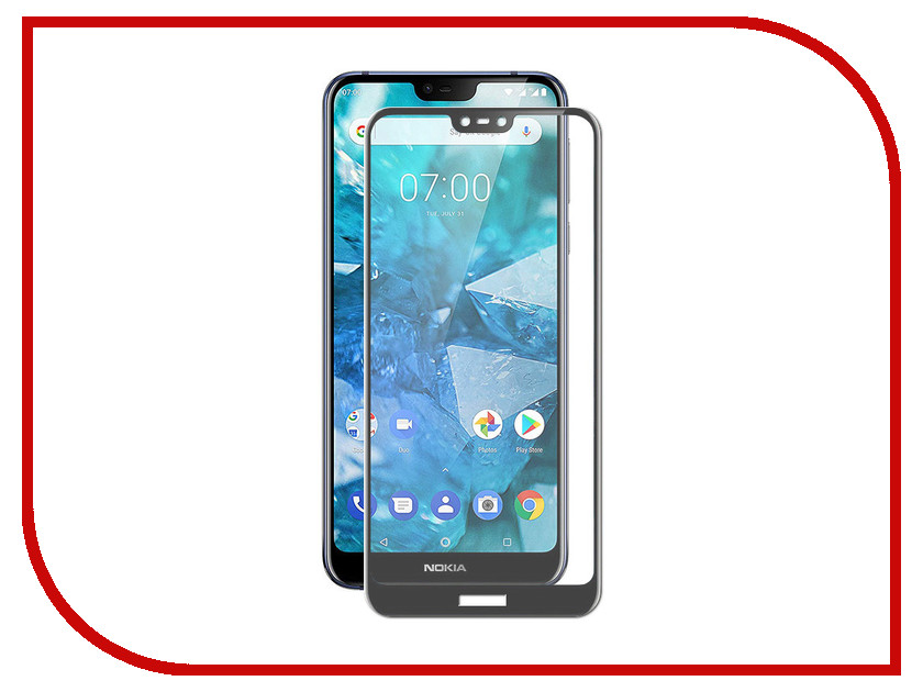 Аксессуар Защитный экран для Nokia 7.1 Red Line Full Screen 3D Tempered Glass Black УТ000016714 for lenovo zuk z2 lcd screen display with touch screen digitizer panel glass assembly black white replacement parts free shipping