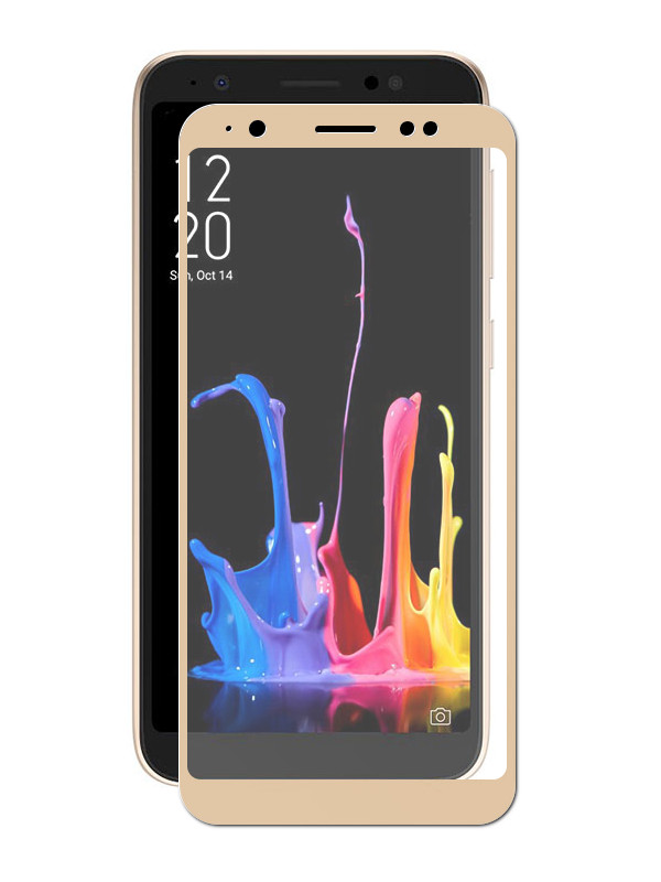 Аксессуар Защитный экран Red Line для ASUS ZenFone Lite L1 ZA551KL Full Screen Tempered Glass Full Glue Gold УТ000016805 for asus zenfone 6 a600cg new full black lcd display panel screen monitor digitizer touch screen glass assembly replacement