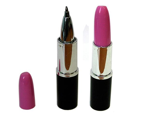 Ручка Эврика Помада розовый колпачок 90511