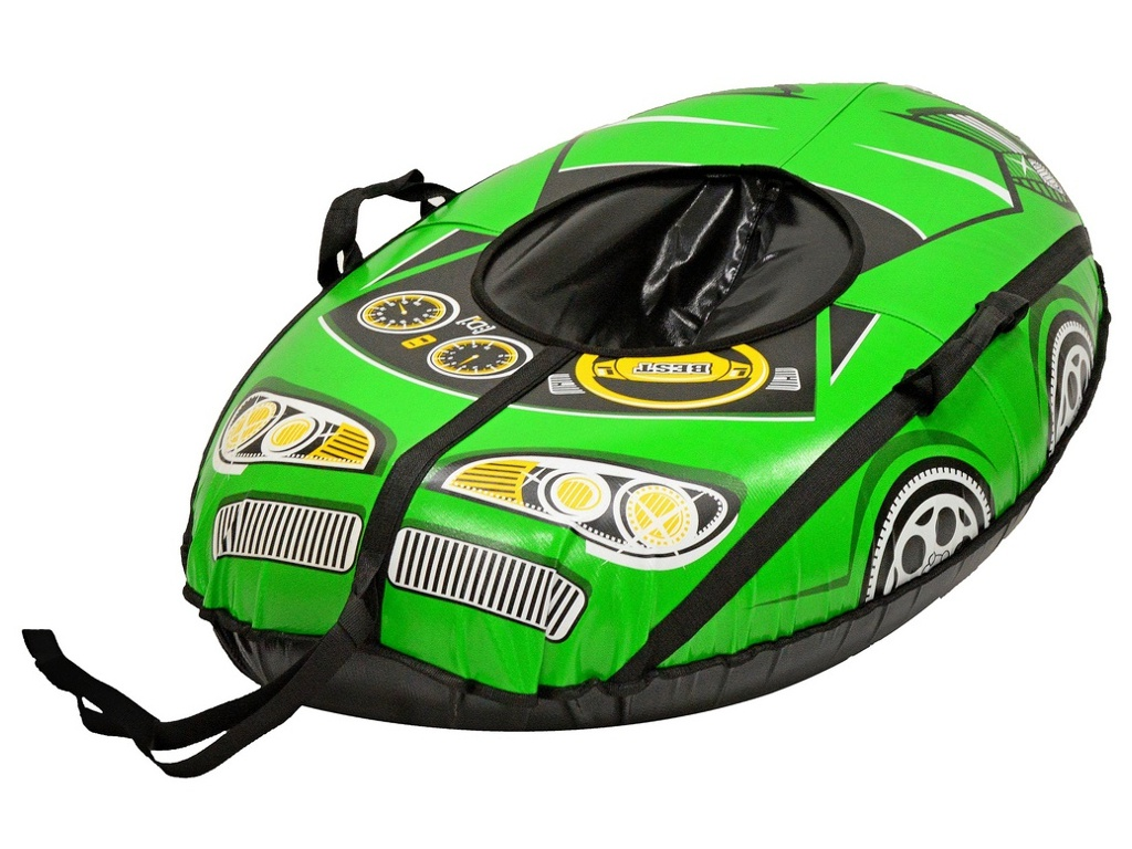 Тюбинг RT Машинка Best Racer 110 см Green